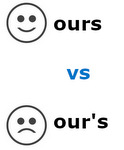Ours vs our's
