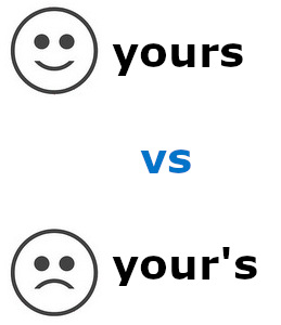 yours vs your s lawless english